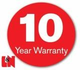 10 year warranty for 100% full copper wire