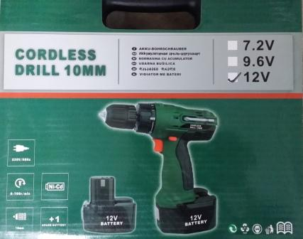 12V Industry Heavy Duty Battery Drill