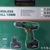 12V 10mm China Keyless Chuck Cordless drill