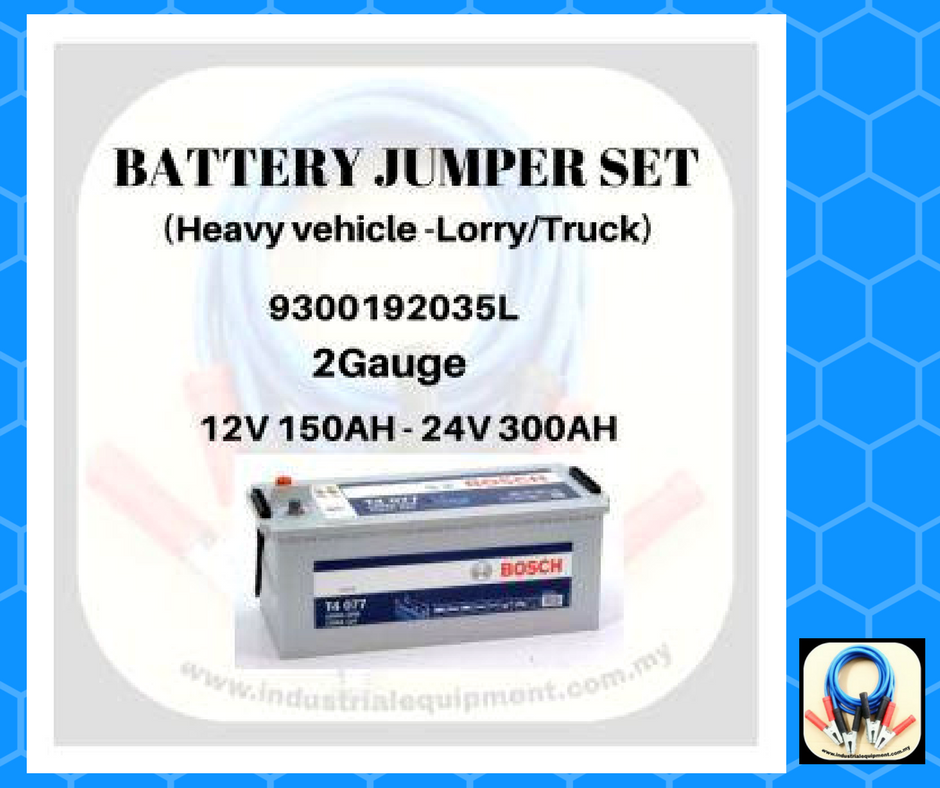 Battery jumper set for heavy vehicle ( 24v battery )