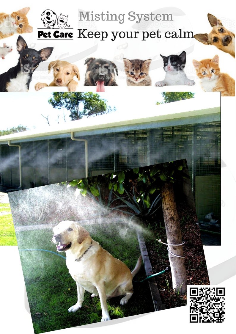Misting system keep your pet cool