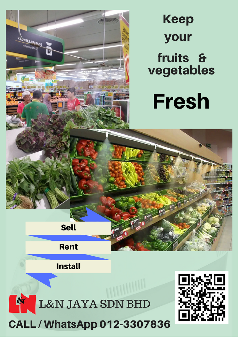 Keep your fruits or vegetables fresh with misting system